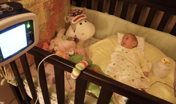 Sleeping Skyler in her Crib