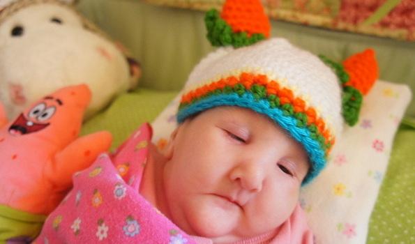 Skyler's Carrot Hat
