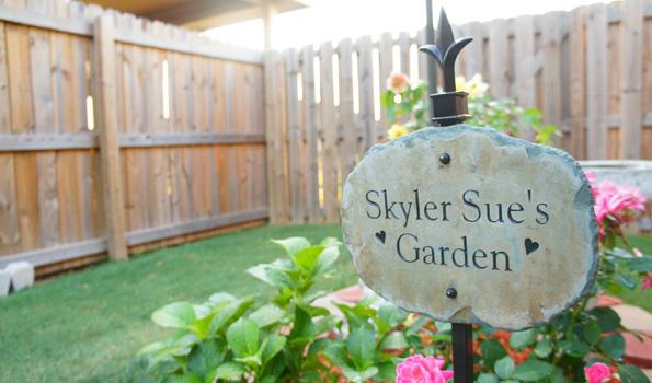 Skyler Sue's Garden Slate Marker